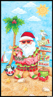 Holiday Beach: Tropical Santa Panel by Blank Quilting