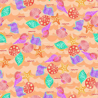 Mermaids Rock: Shells Peach by  Studio E