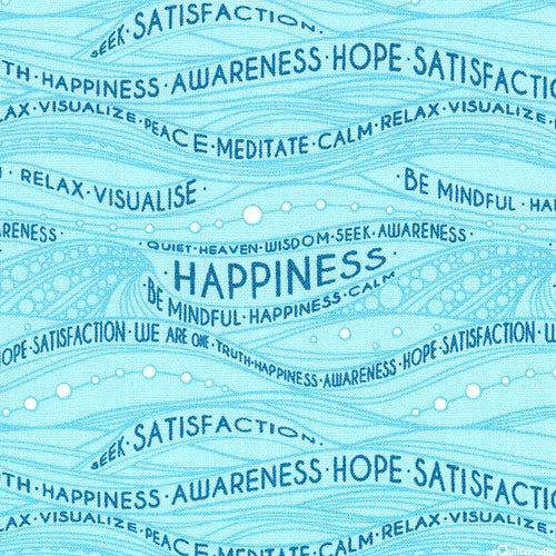 Be Mindful - Waves of Happiness - Spa Blue by Windham