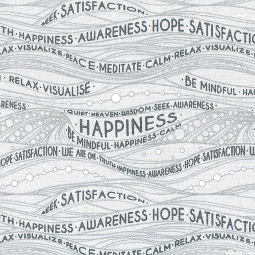 Be Mindful - Waves of Happiness - Grey by Windham