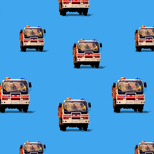 NEW Wildfire Heroes: Firetrucks Repeat Blue by KK Designs