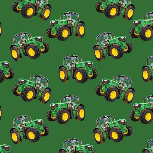 Farm Machines: Tractor Toss Solid Green  by KK Designs