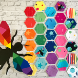 NEW Create: Hexie Bees Yellow by Kristy Lea of Quiet Playfor Riley Blake