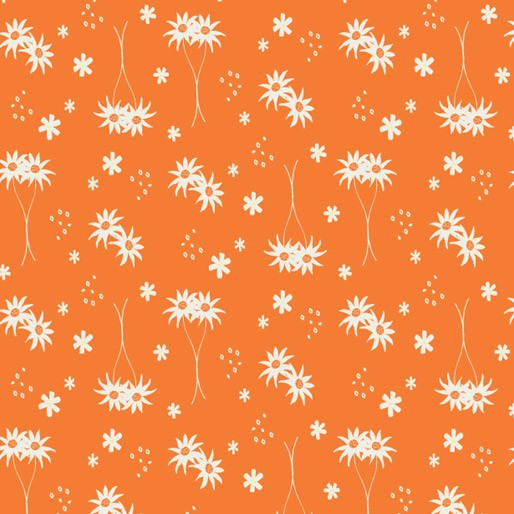 Koala Capers: Little Flannel Orange  by Amanda Brandl for KK Designs