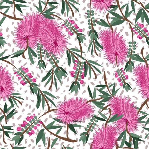 Sweet Botanicals:  Sweet Flowers Bottlebrush  by Annette Winter