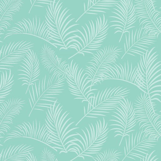 Australiana Soaring: Ferns on Turquoise by Amanda Joy Designs