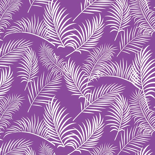 Australiana Soaring: Ferns on Purple by Amanda Joy Designs