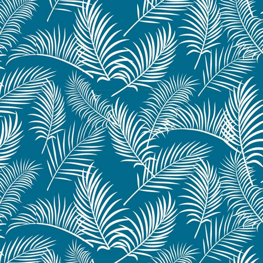 Australiana Soaring: Ferns on Teal by Amanda Joy Designs