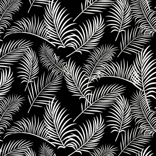 Australiana Soaring: Ferns on Black by Amanda Joy Designs