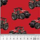 Farm Machines: Tractor Toss Solid Red by KK Designs