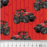 Farm Machines: Tractor Toss Patterned - Red by KK Designs