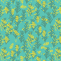 NEW Outback Beauty: Wattle Dance Turquoise   by Amanda Brandl for KK Designs