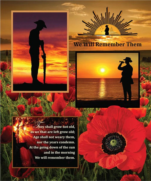 Remembering ANZAC:  Panel by KK Designs