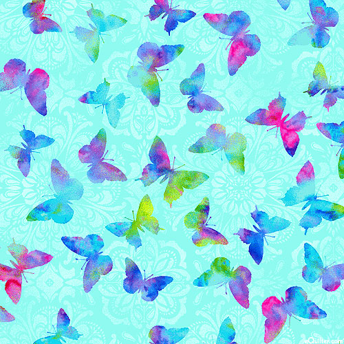 Butterfly Paradise - Wing Shadows - Aqua by Studio E