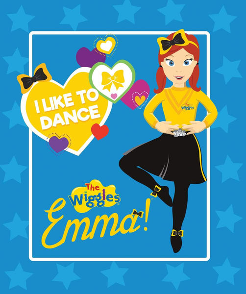 Ready, Steady, Wiggle! Blue Emma Panel by Riley Blake