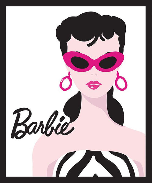 Licensed Barbie Panel White by Riley Blake