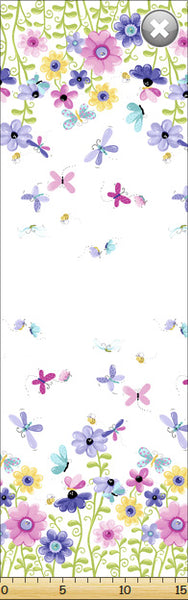 Susybee: Flutter the Butterfly Double Border