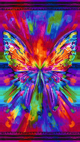 Awaken - Butterfly - Multi -  PANEL - DIGITAL by Chong-A Hwang