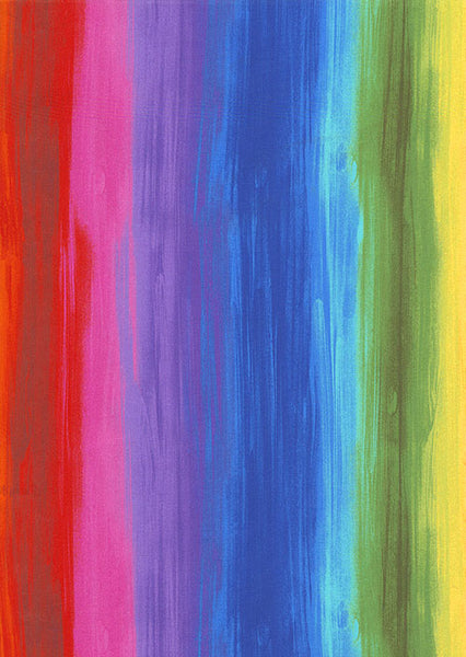Awaken - Rainbow Strokes - Multi - DIGITAL PRINT by Chong-A Hwang