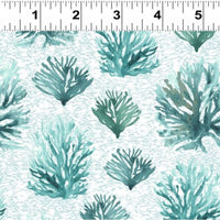 NEW By The Seahore - Coral Reef Teal by Ellen Crimi-Trent for Clothworks