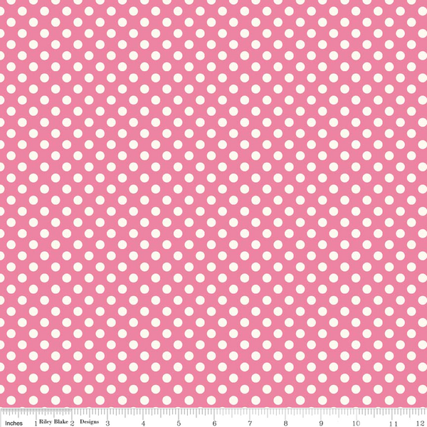 Le Creme Small Dot Hot Pink by Riley Blake