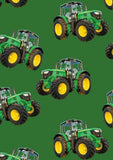Farm Machines: Large Tractor Toss Solid Green by KK Designs
