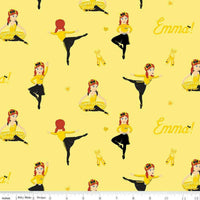 Ready, Steady, Wiggle!  Emma Ballet Yellow by Riley Blake
