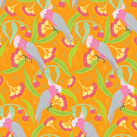 Wild Australia: Groovy Galahs Orange  by Amanda Joy Designs