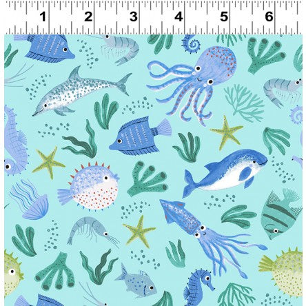 Oceans Away Marine by Rebecca Jones for Clothworks