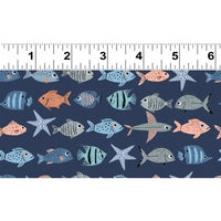 NEW Oceans Away Fish by Rebecca Jones for Clothworks