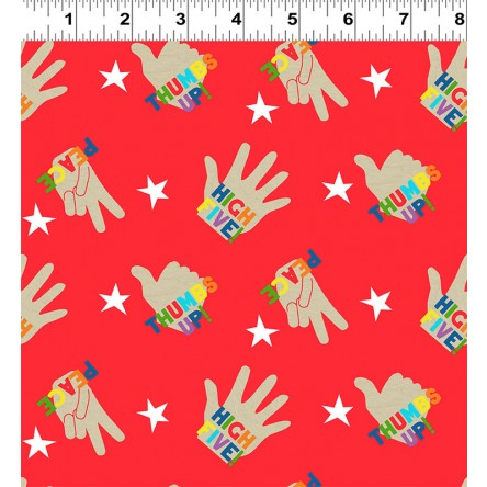 NEW You Are Amazing High 5 Red by Katie Webb for Clothworks