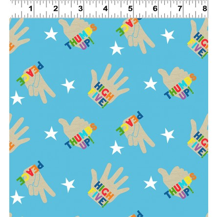 NEW You Are Amazing High 5 Blue by Katie Webb for Clothworks