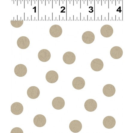 NEW You Are Amazing Dots White/Taupe by Katie Webb for Clothworks