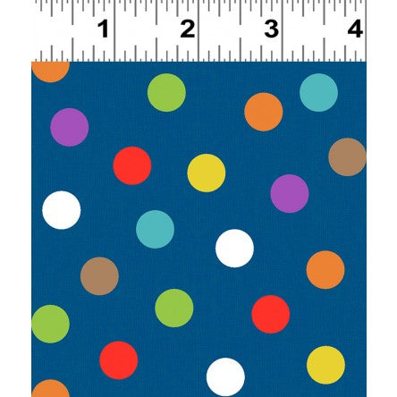 NEW You Are Amazing Dots Blue/Multi by Katie Webb for Clothworks