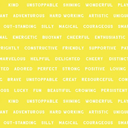 NEW You Are Amazing Words Yellow by Katie Webb for Clothworks
