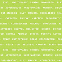 NEW You Are Amazing Words Green by Katie Webb for Clothworks