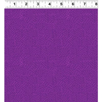 NEW Thistle Patch Tonal Eggplant By Teresa Magnuson for Clothworks