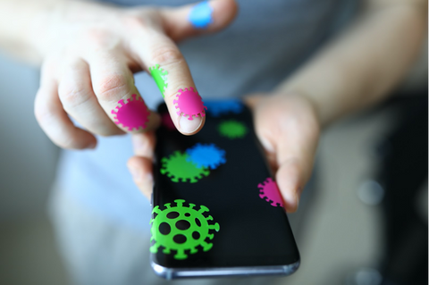 dirty cell phone microbes germs