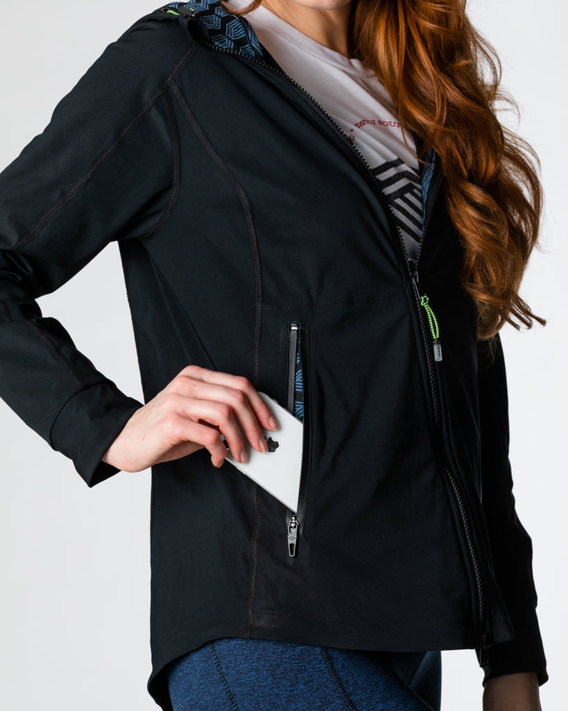Hemp Black Belmont Full Zip Jacket
