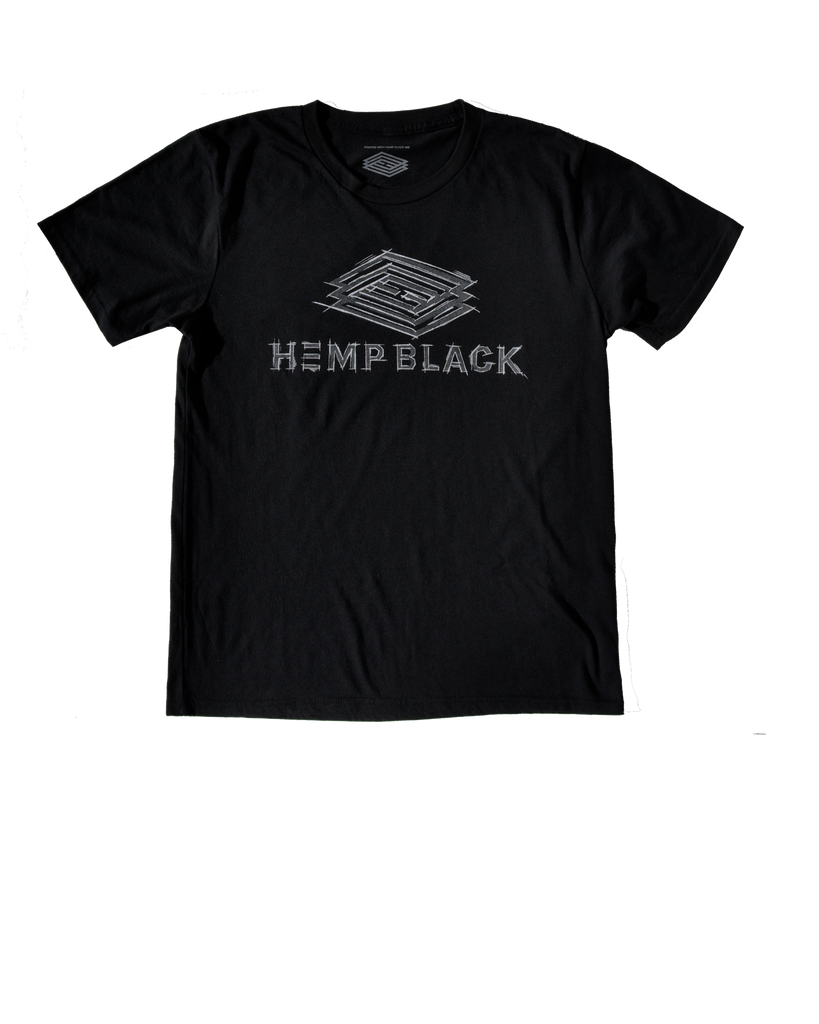 Hemp Black Graphic Sketch Tee