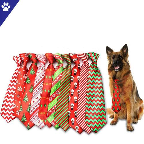 Beautiful dog tie collar christmas for adorable pets