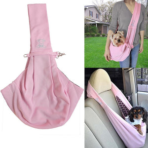 Small Dog Sling Carrier Bag Travel Shoulder Carry - Small dog carrying - dog4shine
