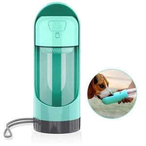 Portable water bottle for your puppy with bowl included - dog4shine