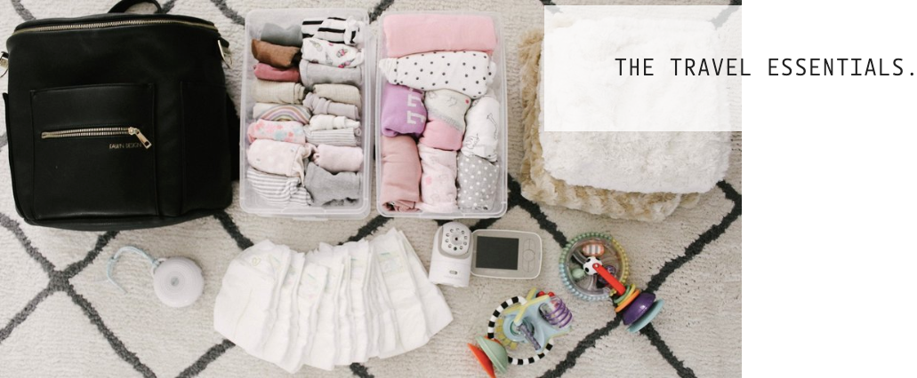 Assorted Travel Essentials for Baby