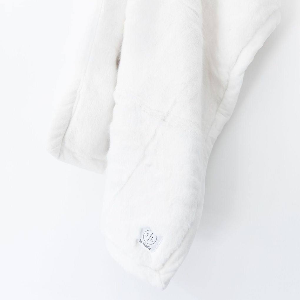 Cloud White Faux Fur - Mini