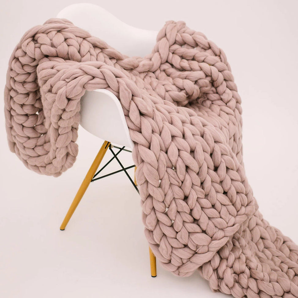 Blush Merino Wool Throw