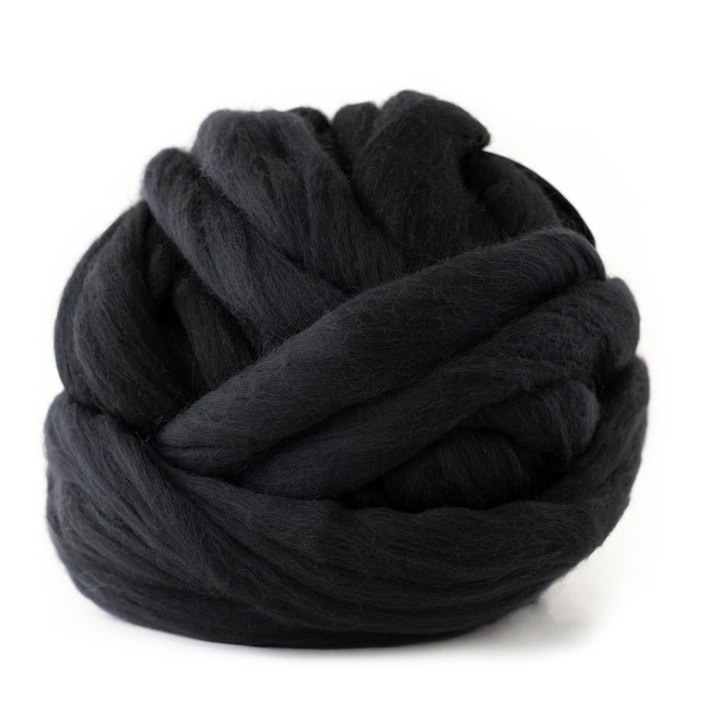 Charcoal Black Merino Wool