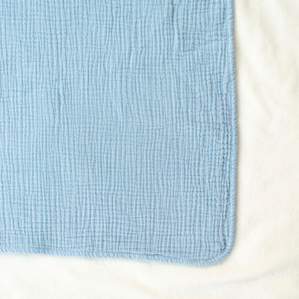 Powder Blue Cotton Swaddle