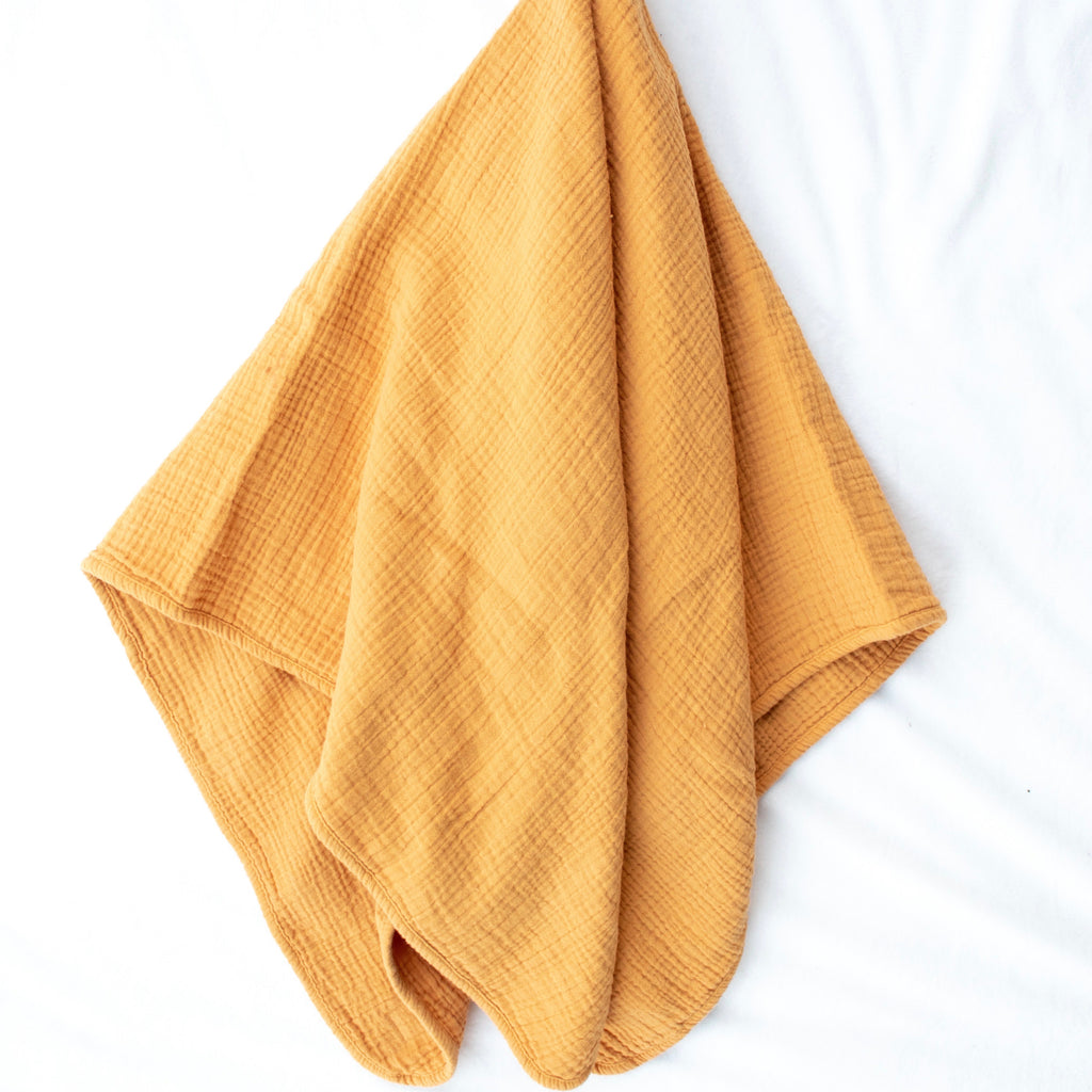 Mustard Cotton Swaddle