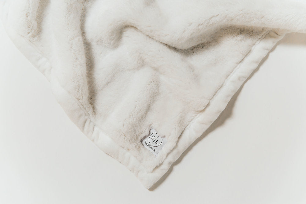 Cloud White Faux Fur Blanket